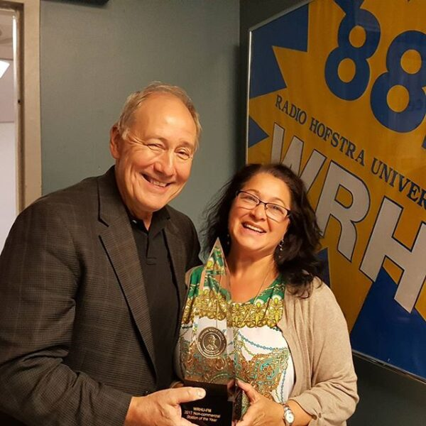 Bruce Avery and Paula Curci with the Marconi Award!